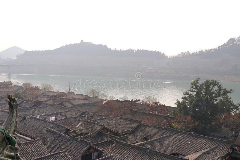 Древний город, родной город, китайский Новый Год стоковые фотографии rf