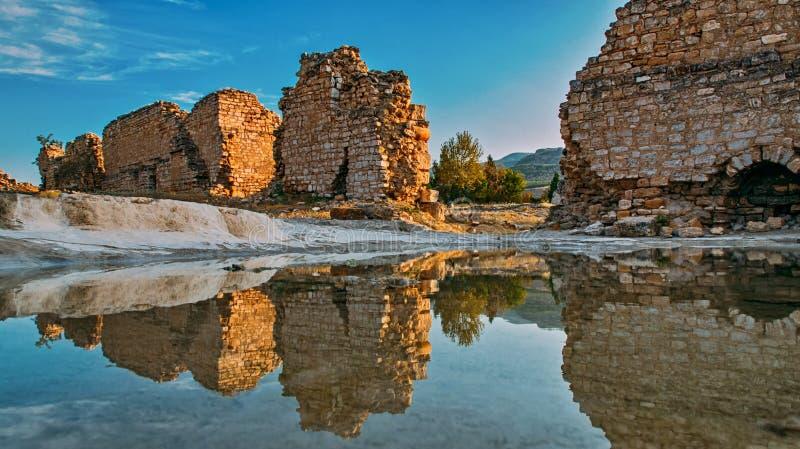 Древний город, руины Hierapolis, Турции стоковая фотография rf