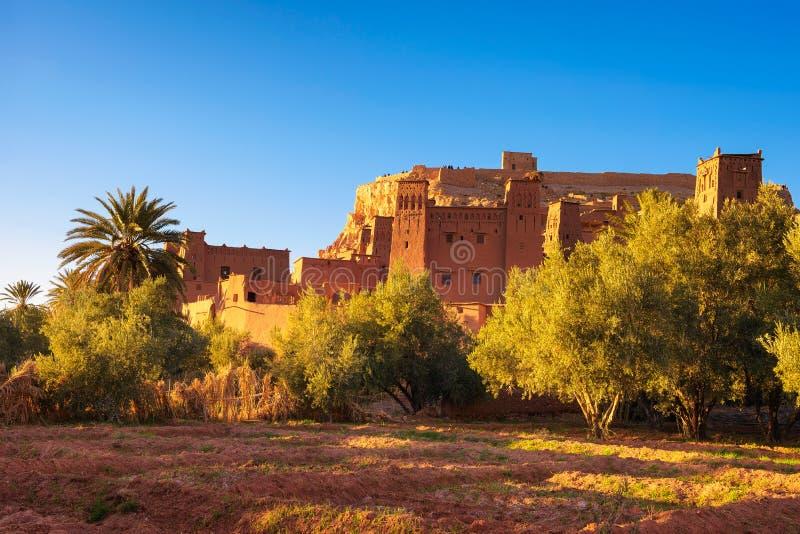 Древний город Ait Benhaddou в Марокко стоковые изображения rf