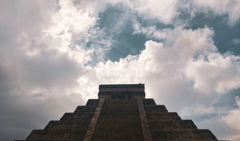 Древний город Chichen Itza, Юкатан, Мексики стоковые изображения rf