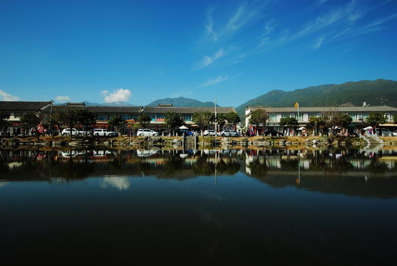 Древний город Dali Xizhou, Юньнань стоковое изображение