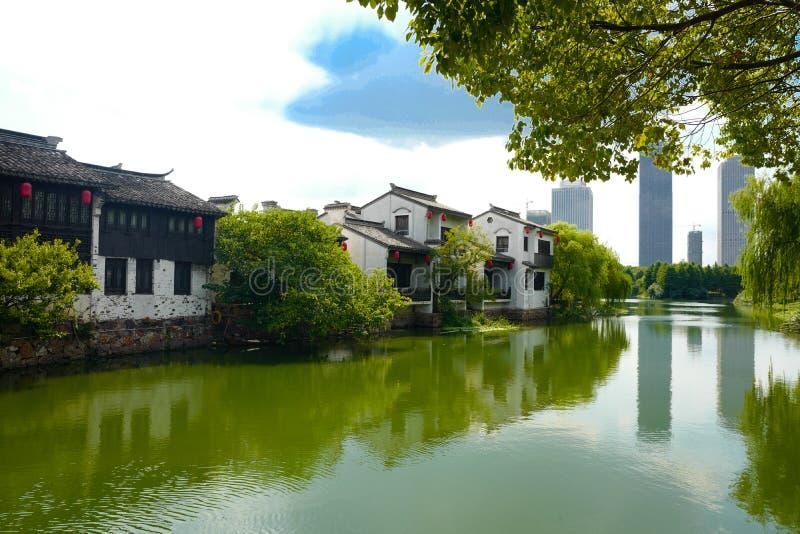 Древний город Xuntang стоковая фотография