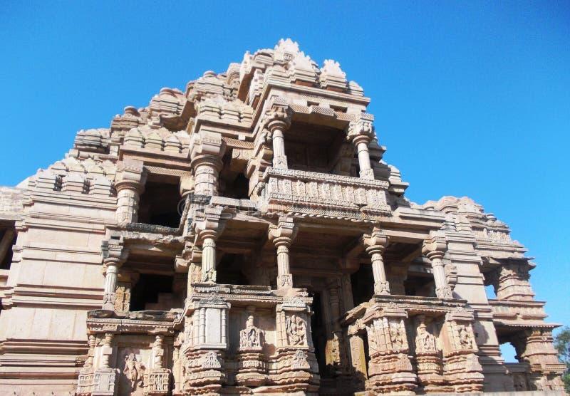 Древний храм в Gwalior/Индии стоковая фотография rf