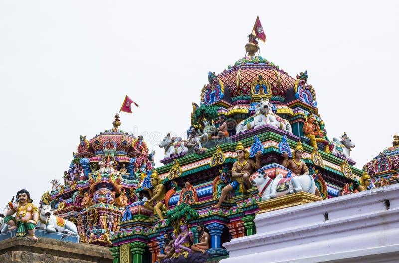 Древний храм Shiva, Kapaleeswarar, Ченнаи, Индии стоковые изображения rf