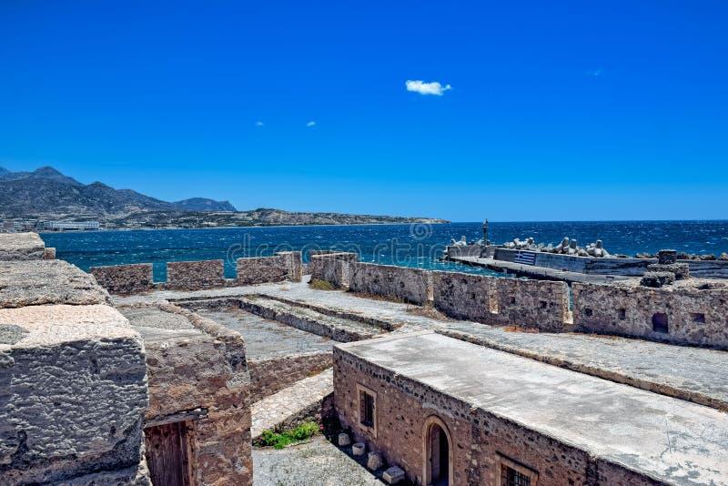 Древняя крепость в Крите стоковая фотография rf