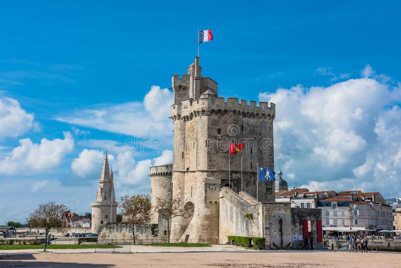 Древняя крепость La Rochelle Франции стоковое фото rf