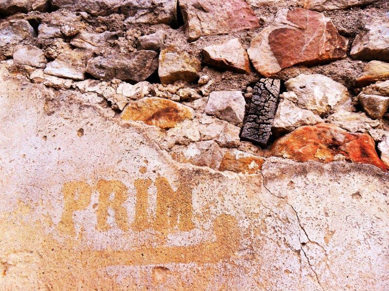 Древняя стена, maharka бдительности стоковая фотография