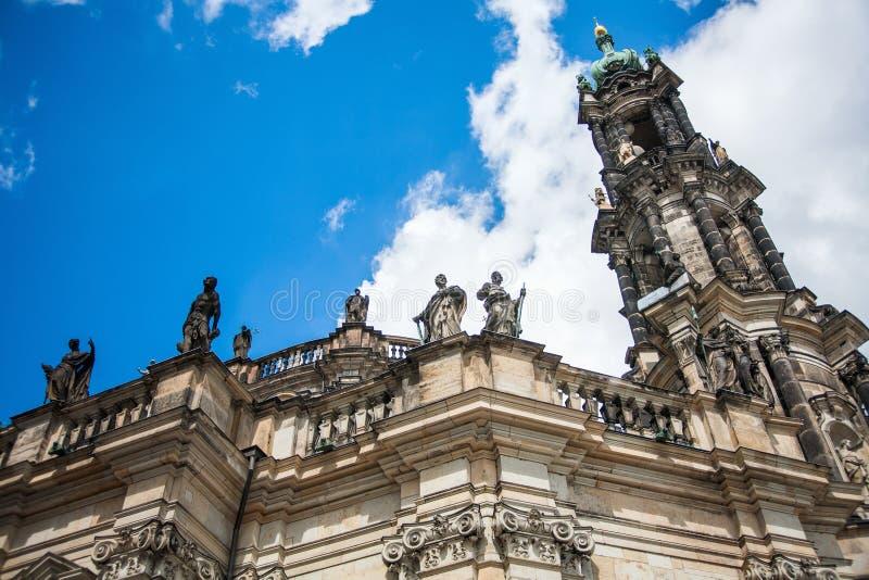 Дрезден, Германия в красивом летнем дне Историческая и культурная разбивочная Европа стоковое фото