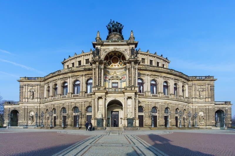 Дрезден Semperoper Германия стоковое изображение rf