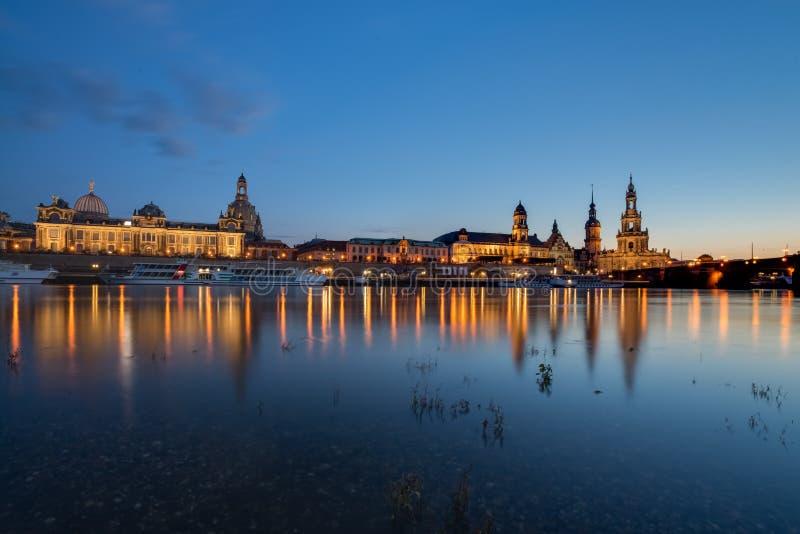 Дрезден на Эльбе, Германия стоковая фотография rf