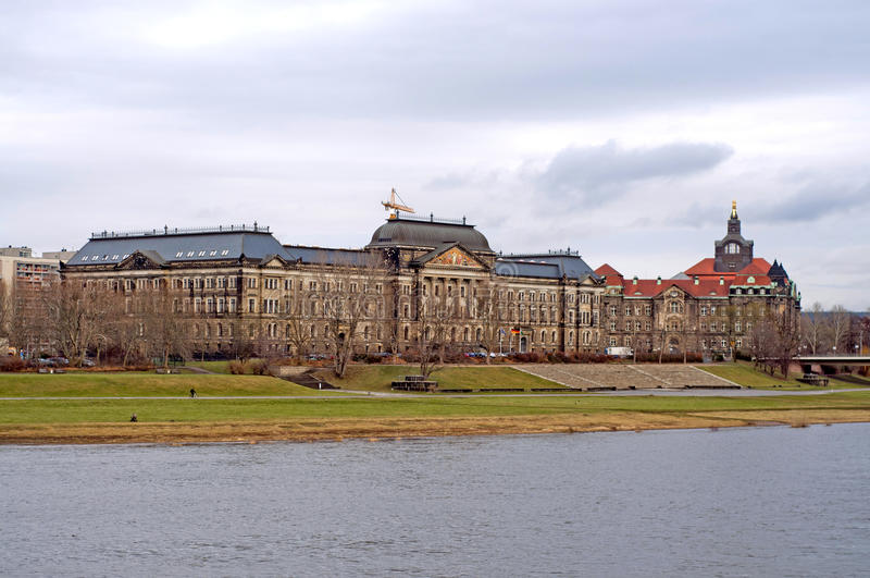 Дрезден - Эльба, Германия стоковая фотография rf