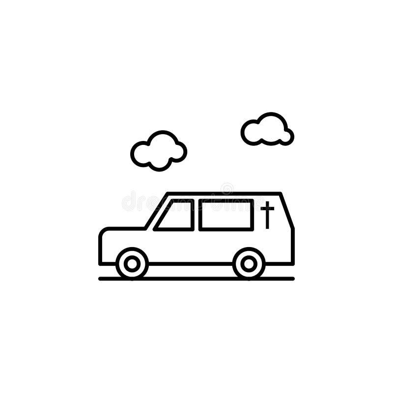 дроги, смерть, значок плана автомобиля детальный набор значков иллюстраций смерти r иллюстрация штока
