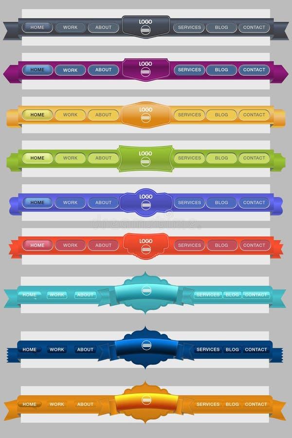 другая чистая сеть меню иллюстрация штока