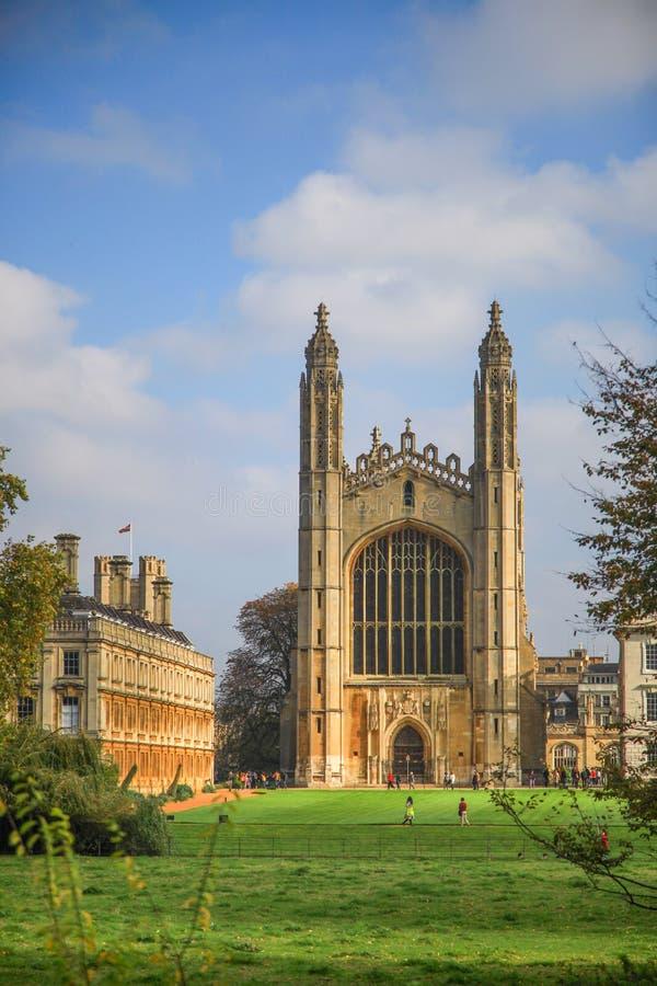 Другие далекий взгляд часовни в коллеже ` s короля в Кембриджском университете стоковое фото