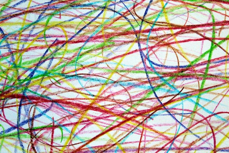 Другие цвета doodle текстуры вычерченные рисуют предпосылку стоковые изображения rf