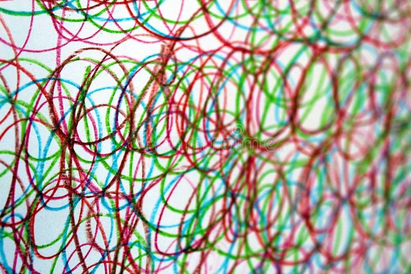 Другие цвета doodle текстуры вычерченные рисуют предпосылку стоковая фотография rf