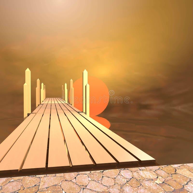 Другой восход солнца мира иллюстрация вектора