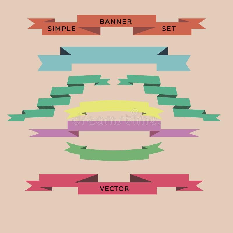 Другой цвет вектора ленты установленный стоковое фото