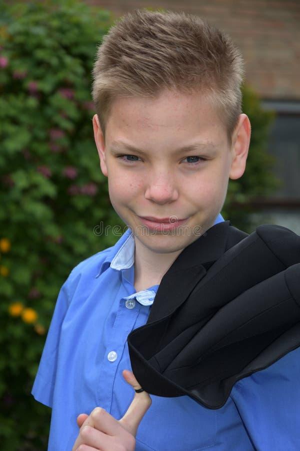 Дружелюбный мальчик подростка стоковые изображения