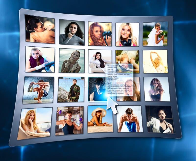 Друзья в социальной сети стоковые изображения rf