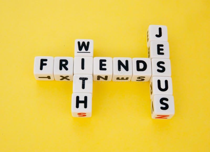Друзья с Иисусом стоковое изображение rf