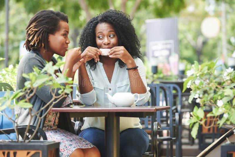 Друзья gossiping стоковая фотография