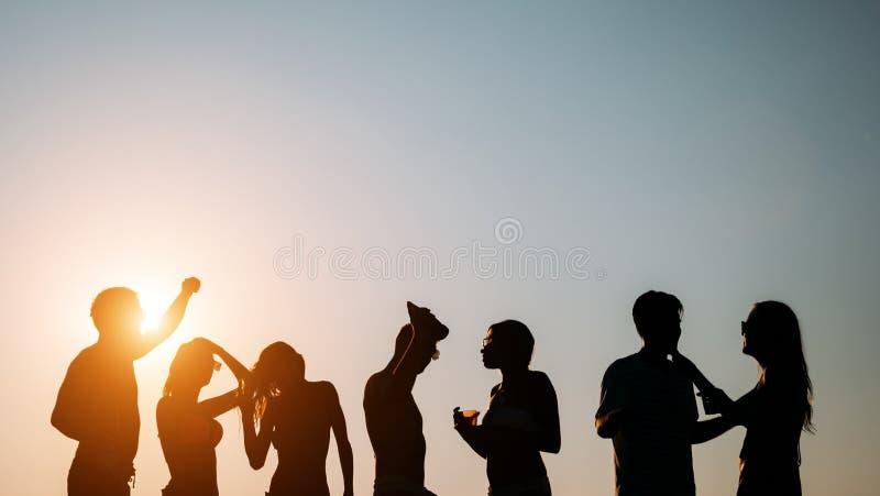 Друзья partying во время летних каникулов стоковые фото