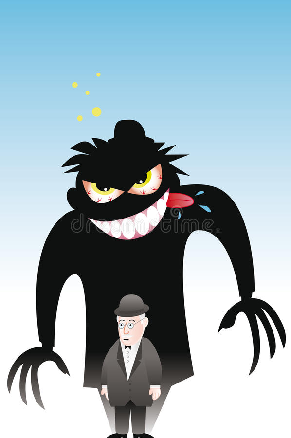 Др. hyde jekyll г-н бесплатная иллюстрация