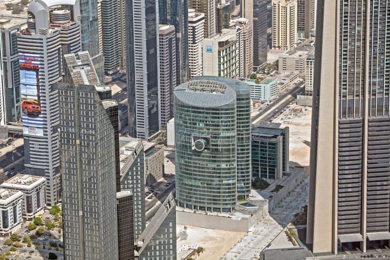 Дубай, взгляд сверху на Дубай городском стоковые изображения rf