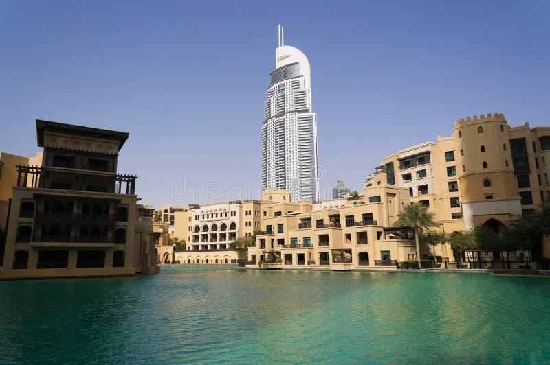 Дубай, ОАЭ - 15-ое января 2016: дворец городской Дубай и гостиницы адреса городские в Дубай, OAE стоковые изображения