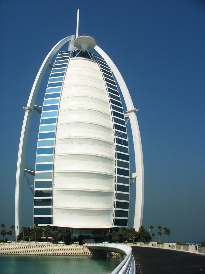 Гостиница Al Burj арабская в Дубае. Al Араб Burj гостиница звезд роскоши 7 и одного самого роскошного в мире стоковая фотография rf