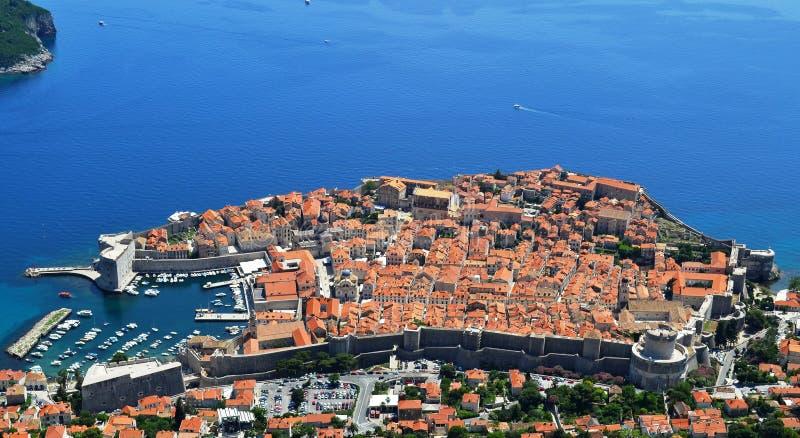 Дубровник, древний город (Хорватия) стоковое изображение rf