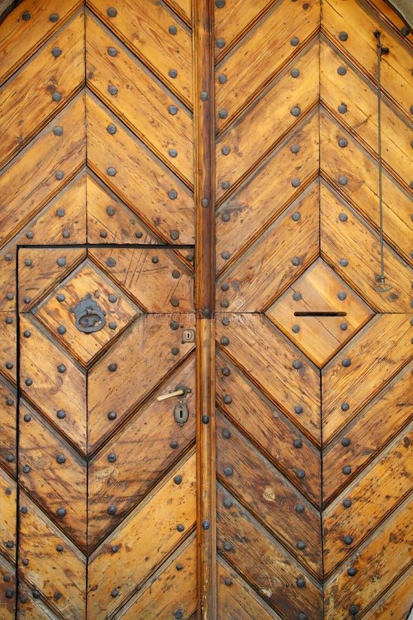 дуб двери старый стоковое изображение rf