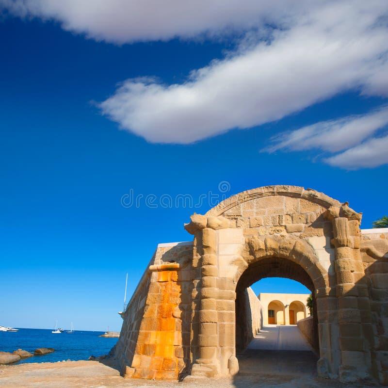Дуга двери форта Tabarca Puerta de San Miguel de Tierra стоковое изображение