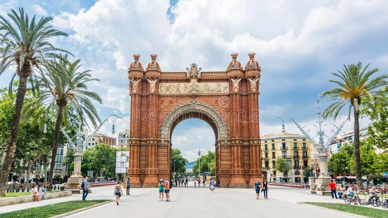 Дуга de Triomf в Барселоне стоковые фотографии rf