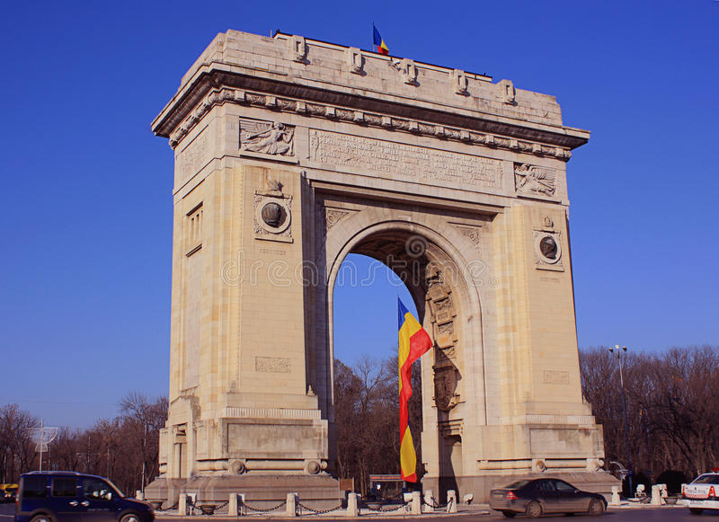 Дуга de Triumf, Бухарест стоковые изображения