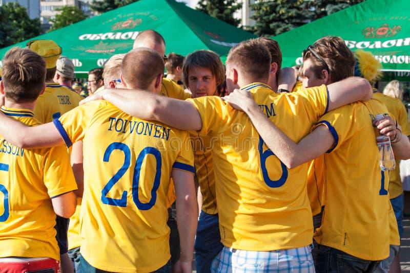дует национальную шведскую команду стоковое фото