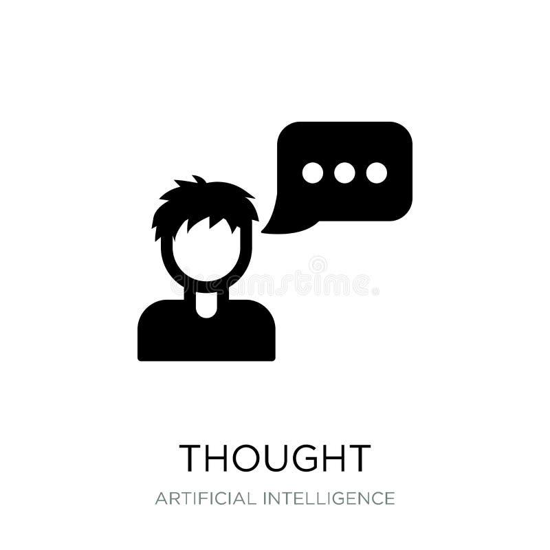 думаемый значок в ультрамодном стиле дизайна значок мысли изолированный на белой предпосылке символ значка вектора мысли простой  иллюстрация штока