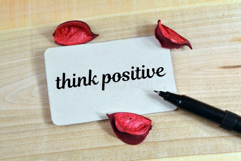 Думайте положительное слово стоковые изображения