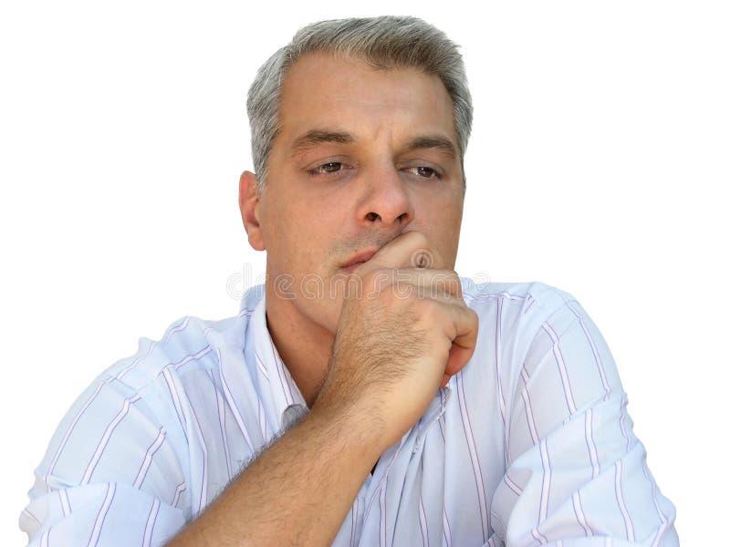 Download думать бизнесмена стоковое фото. изображение насчитывающей мужчины - 23910