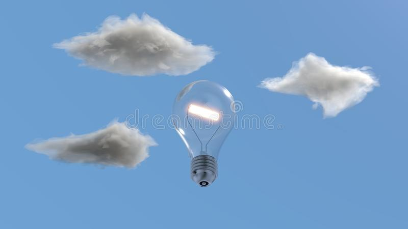 Думать голубого неба стоковая фотография