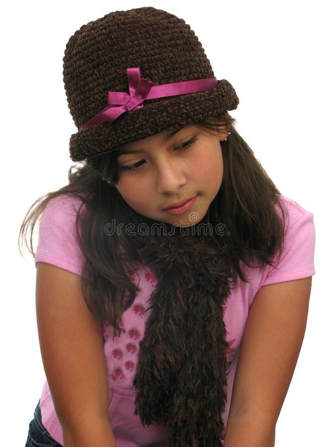 думать девушки стоковая фотография rf