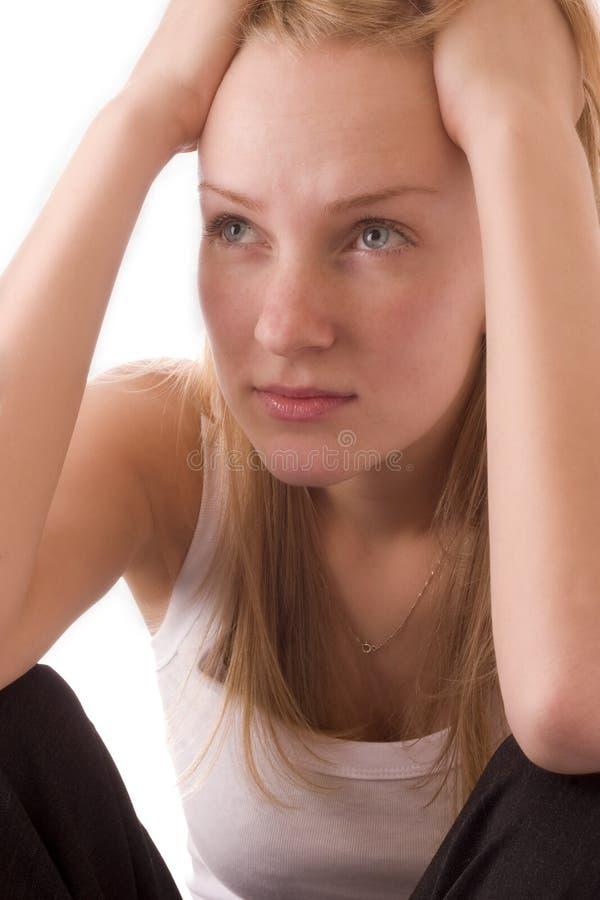 думать девушки стоковое изображение