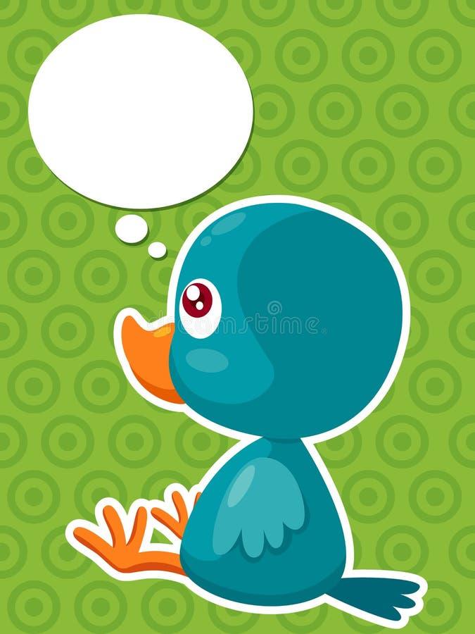 Думать птицы шаржа иллюстрация штока