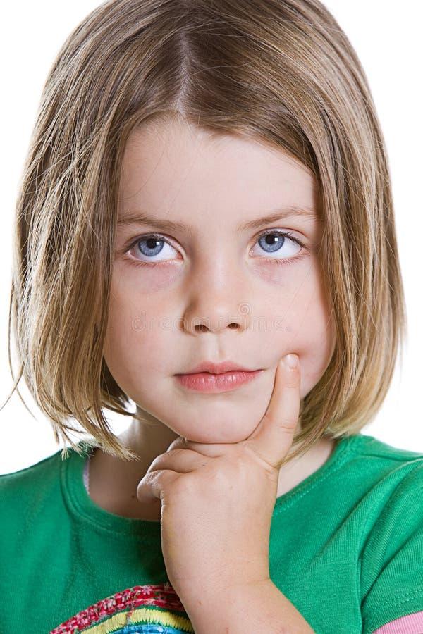 Download думать ребенка милый стоковое фото. изображение насчитывающей малыш - 6861298