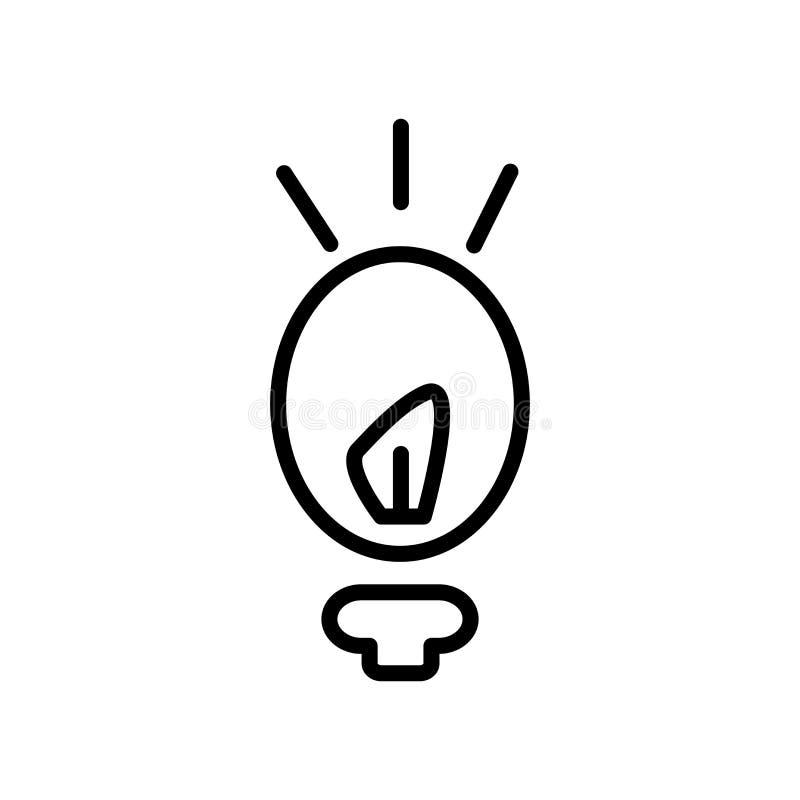 Думая вектор значка изолированный на белой предпосылке, думая знаке иллюстрация вектора