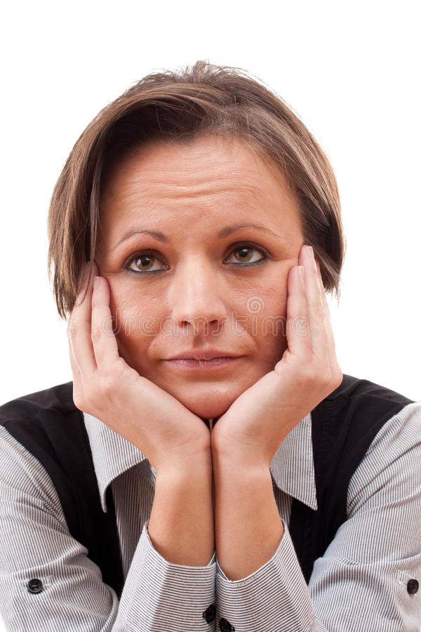 Download думая женщина стоковое изображение. изображение насчитывающей adulteration - 17615703