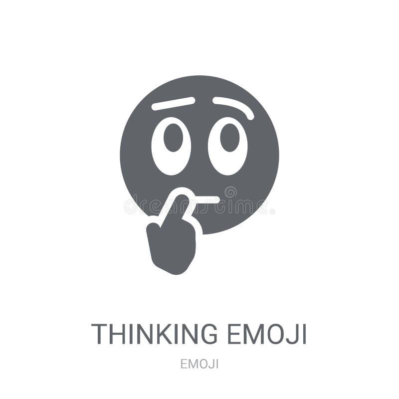 Думая значок emoji  бесплатная иллюстрация