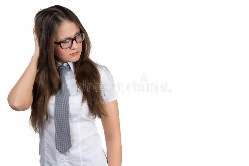 Download Думая положение женщины дела Стоковое Фото - изображение насчитывающей крыто, официально: 40588076