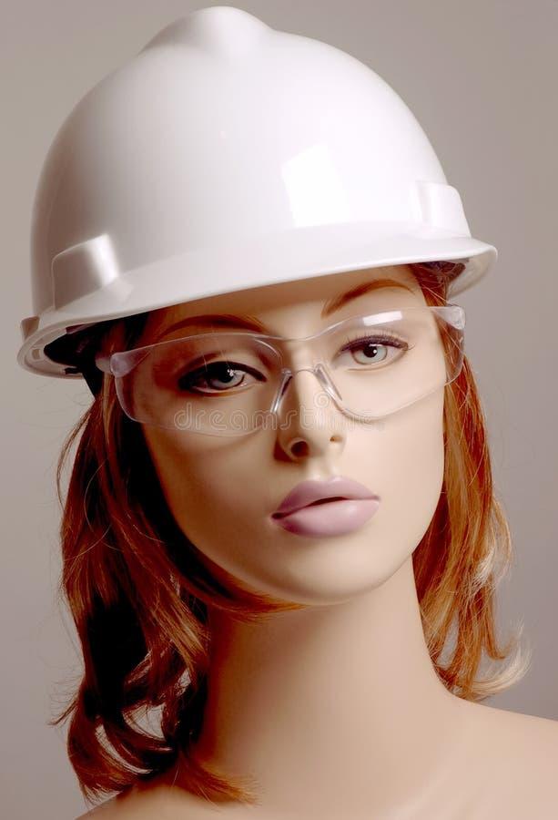 думмичная белизна безопасности шлема стоковые фотографии rf